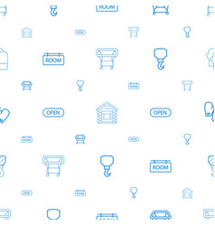 hanging icons pattern seamless white background vector image