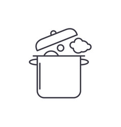 home cooking line icon concept home cooking vector image