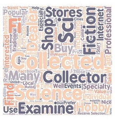 How to Find Sci Fi Collectable Dealers text vector