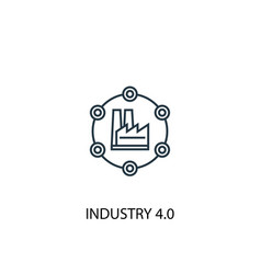 industry 40 concept line icon simple element vector image