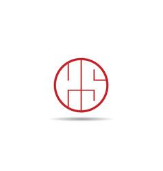 Initial letter ks logo template design vector