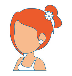 isolated cute upperbody wife vector image