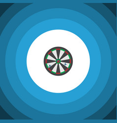 Isolated darts flat icon arrow element can vector