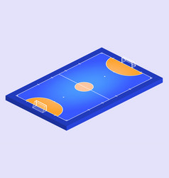 isometric perspective view field for futsal vector image