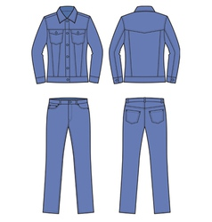 Jacket and jeans vector