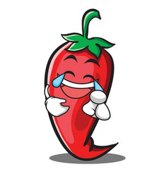 Joy red chili character cartoon vector