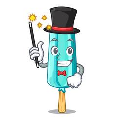 Judge magician ice cream shaped stick on mascot vector