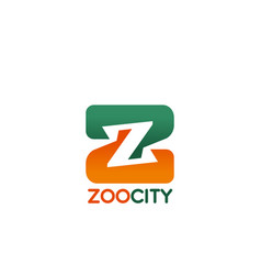 Letter z icon for zoo city vector