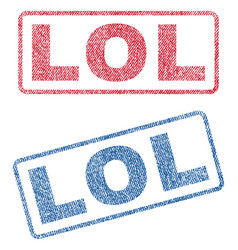 Lol textile stamps vector