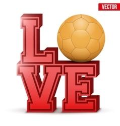 Love handball inscription vector image
