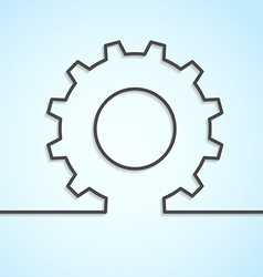 Mechanical cog wheel abstract background vector image