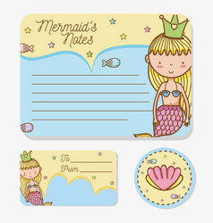 Mermaids printable sheet vector