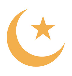 Moon star ramadan arabic islamic celebration tone vector