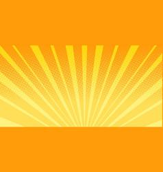 orange rays sunrise abstract background vector image