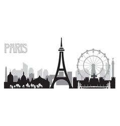 Paris skyline silhouette 4 vector