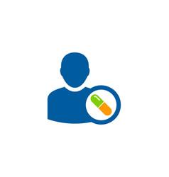 people medicine logo icon design vector image