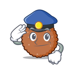 Police chocolate biscuit character cartoon vector