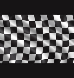 Rally or car races flag vector