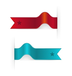 Ribbon Bookmarks vector image