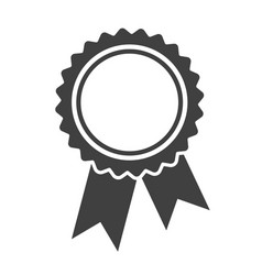 ribbons award template isolated on white vector image