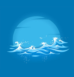 Sea and ocean marine waves vector