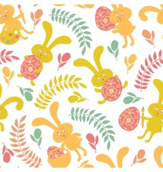 Seamless pattern of Easter bunnies vector image