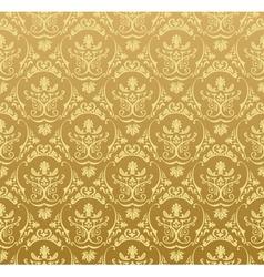 seamless wallpaper background floral vintage gold vector image