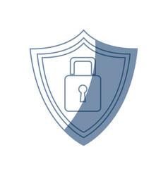 security technology padlock shield vector image