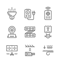 Set line icons of LED equipment vector