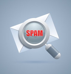 Spam message identification icon vector image