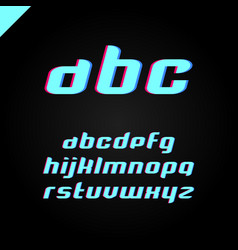 square alphabet simple font and letter set vector image