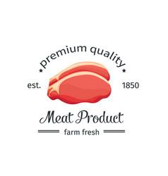 steak vintage emblem vector image
