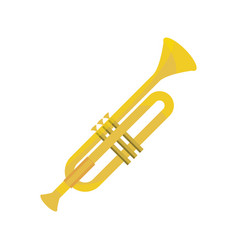 Trumpet wind musical instrument isolated icon vector