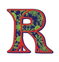 Winter letter R vector