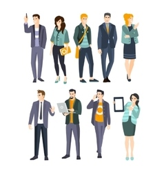 Young Professionals Set Of Cool People vector image