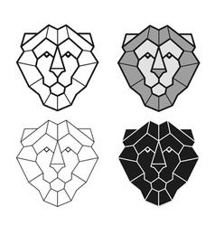 Lion geometric head set vector image vector image