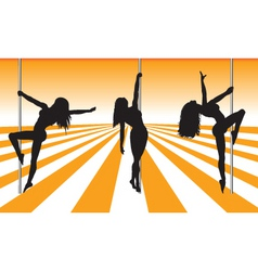 pole dancers vector image