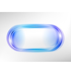 abstract shape white blue oval vector image vector image