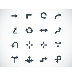 Black icon arrows icons vector