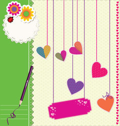 Cute Love background vector image vector image