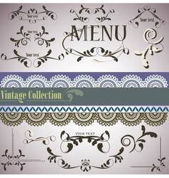 filigree vintage elements vector image