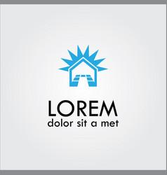 home tile logo vector image