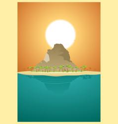 paradise desert island vector image vector image