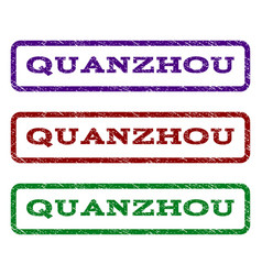 quanzhou watermark stamp vector image vector image
