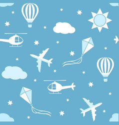 seamless pattern sky background vector image vector image