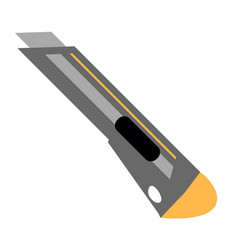 stationery knife flat icon vector image