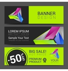abstract bright business card banner design vector image vector image