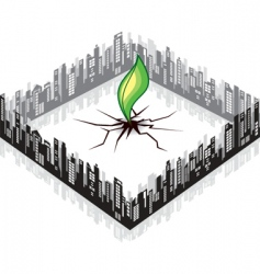 ecology cityscape vector image vector image