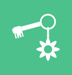 Icon key and key fob vector