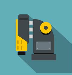 Pneumatic hammer machine icon flat style vector
